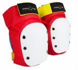 "PRO-TEC ""Street"" Knee Pads for Roller Derby Skateboard BMX S M L XL RETRO RED Protection padding"